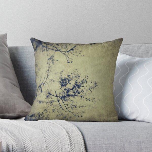 Splatters of blue 3 Throw Pillow