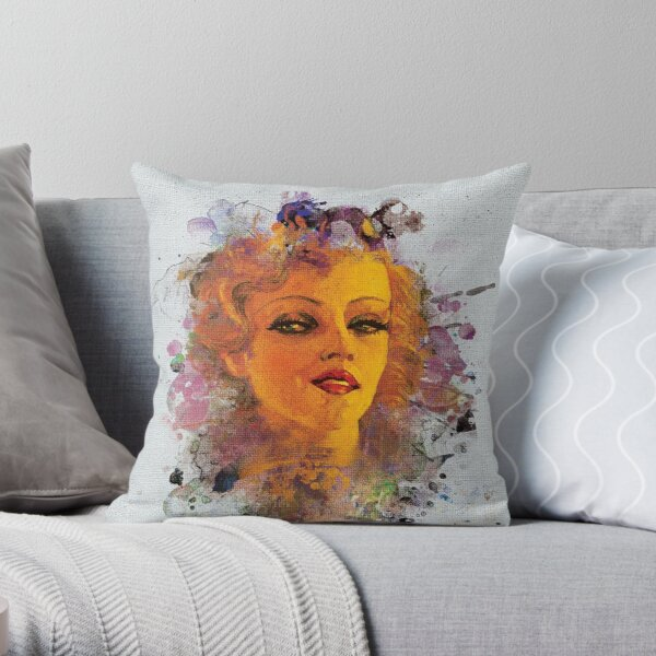 Painted Beauty Throw Pillow