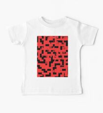 Line Art - The Bricks, tetris style, red and black Baby Tee