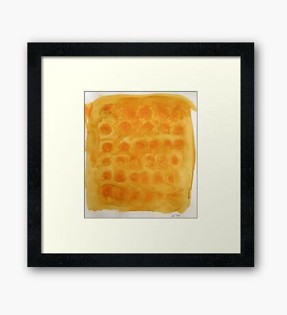 orange Framed Print