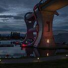 Falkirk Wheel at night by joak
