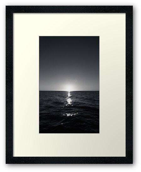sunset ver.b&w by noirblanc777