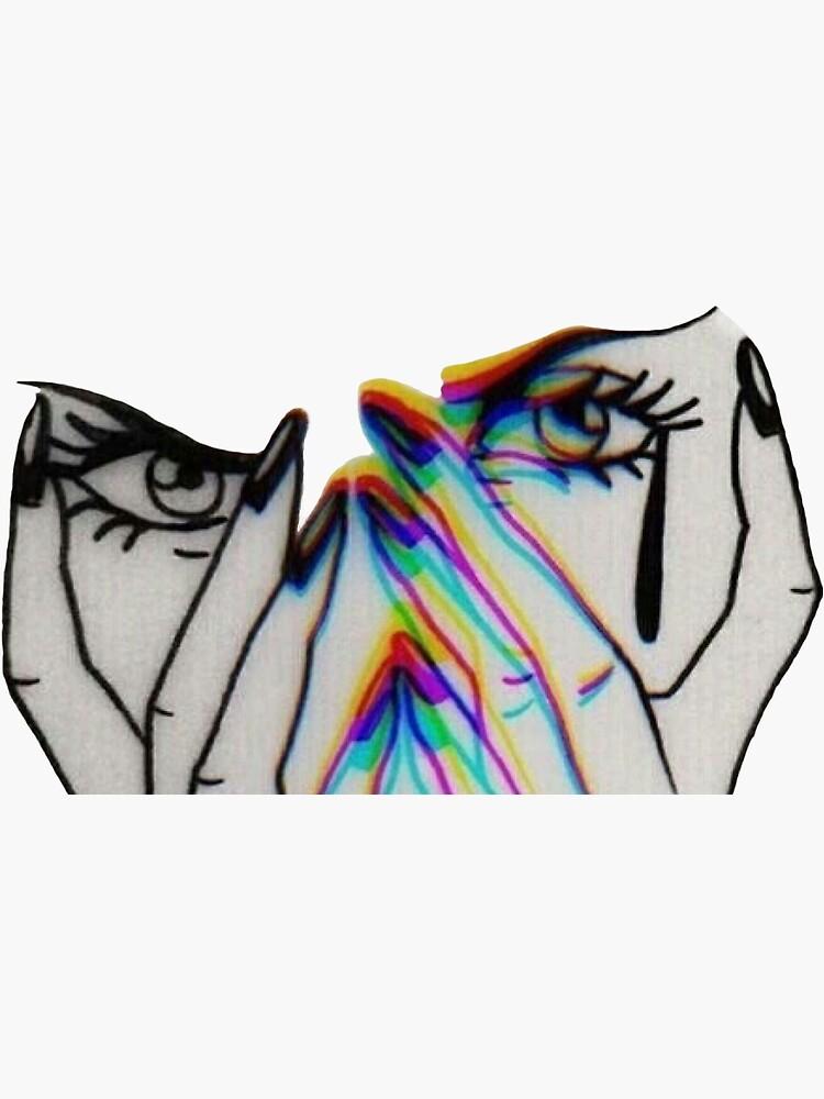 Trippy Crying Girl  by lucidrewci