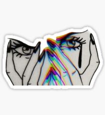 Trippy Crying Girl  Sticker
