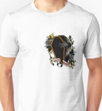 Skeleton Coffin Flower Traditional Tattoo Design Unisex T-Shirt