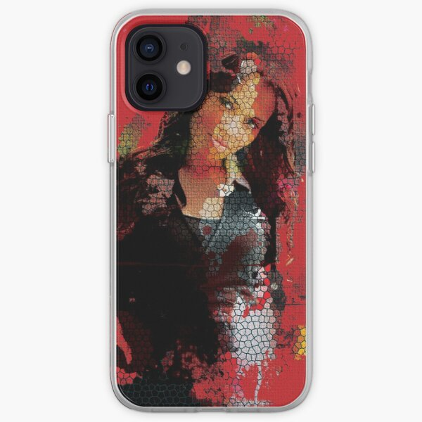 Red Mosaic Lady iPhone Soft Case