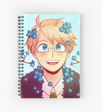 America Forget-me-not Print Spiral Notebook