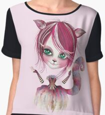 Cheshire Kitty Women's Chiffon Top