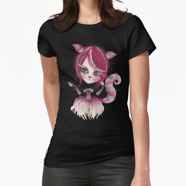 Cheshire Kitty Fitted T-Shirt