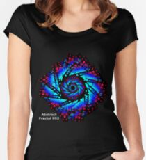 Abstract Fractal 992  Women's Fitted Scoop T-Shirt