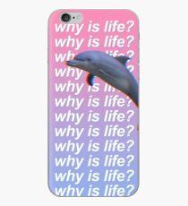 Vinilo o funda para iPhone ¿Por qué es la vida? Carcasa de telefono