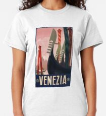 1928 Venice Italy Travel Poster Classic T-Shirt