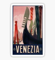 1928 Venice Italy Travel Poster Sticker