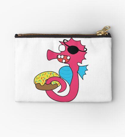 zombie pirate seahorse dangles a donut Studio Pouch