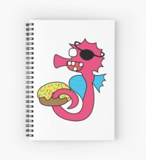 zombie pirate seahorse dangles a donut Spiral Notebook