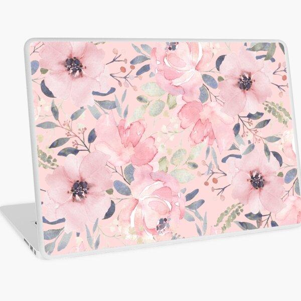 Rosie Pink Floral Print Laptop Skin