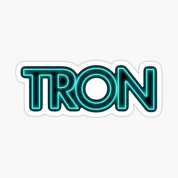 Tron Logo Sticker