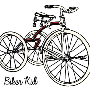 "Vintage 30s red Tricycle ""biker kid"" by BrendanGraham"