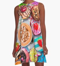 Cupcakes and Cocoa A-Line Dress