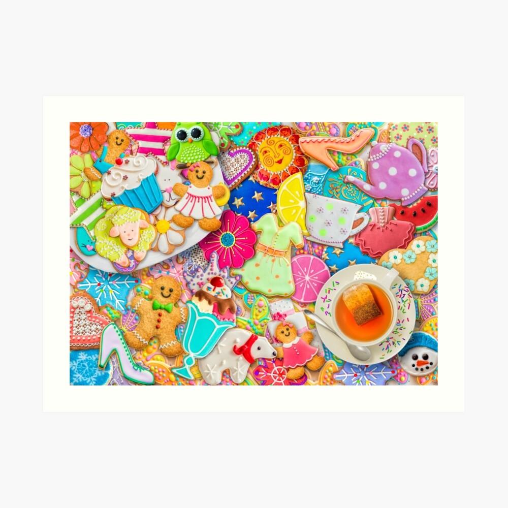 Tea and Cookies Art Print