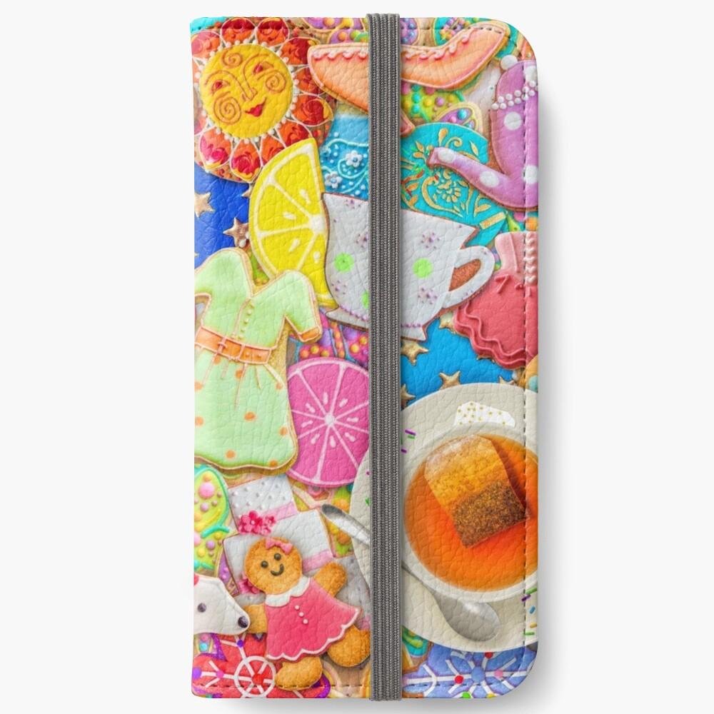 Tea and Cookies iPhone Wallet