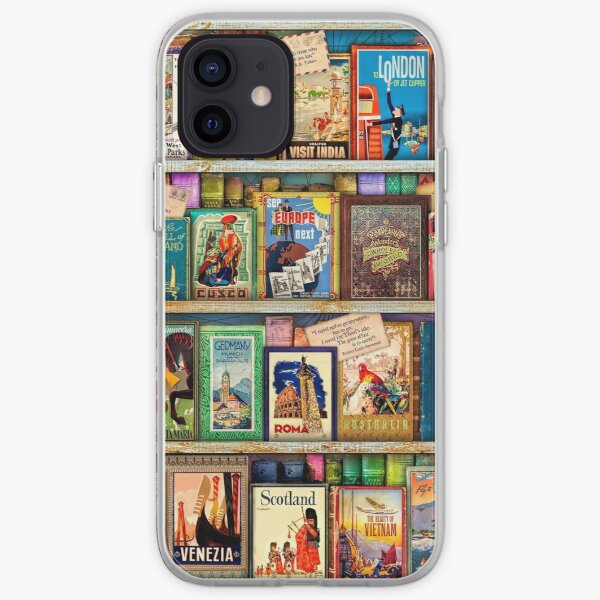 Travel Guide Book Shelf iPhone Soft Case