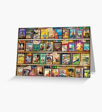 Travel Guide Book Shelf Greeting Card