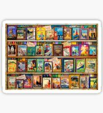 Travel Guide Book Shelf Sticker