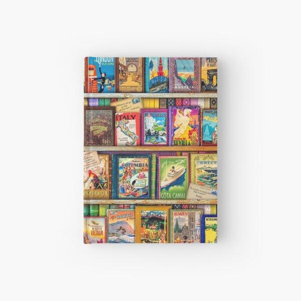 Travel Guide Book Shelf Hardcover Journal