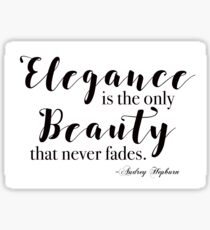 Elegance Audrey Hepburn Quote Sticker