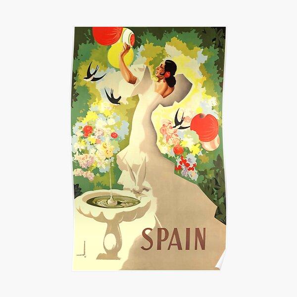 1941 Spain Flamenco Dancer Travel Poster Poster
