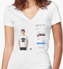 Joy Divison ShirtShirtShirt Women's Fitted V-Neck T-Shirt