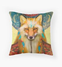 Wise Fox Throw Pillow