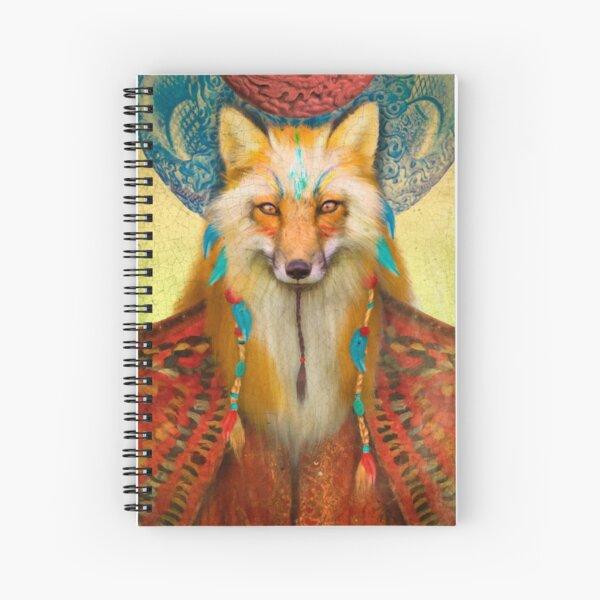Wise Fox Spiral Notebook