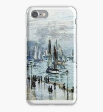 Claude Monet - Fishing Boats Leaving The Harbor Le Havre iPhone Case/Skin