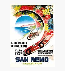 Lámina fotográfica Cartel de la carrera de San Remo Grand Prix de 1947