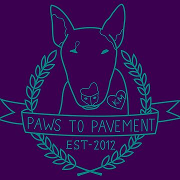 Paws To Pavement Dog Walking Turquoise & Purple by Ejmckinney19