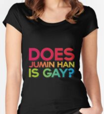 Does Jumin Han is gay? Women's Fitted Scoop T-Shirt