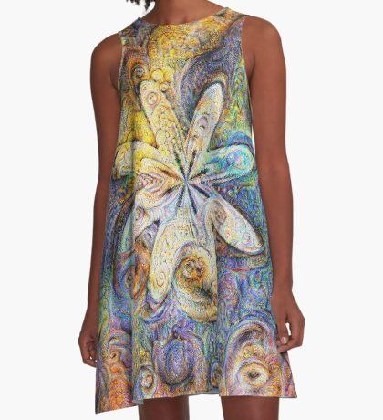Eight armed starfish #DeepDream A-Line Dress