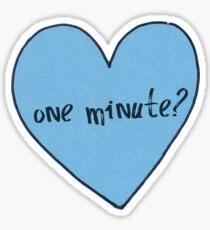 "Olitz ""One Minute"" Heart Sticker"