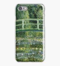 Claude Monet - The Japanese Bridge The Water Lily Pond iPhone Case/Skin