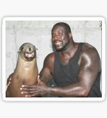 Shaq and Sea Lion Sticker
