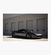 Stealthy Italian Supercar! Photographic Print