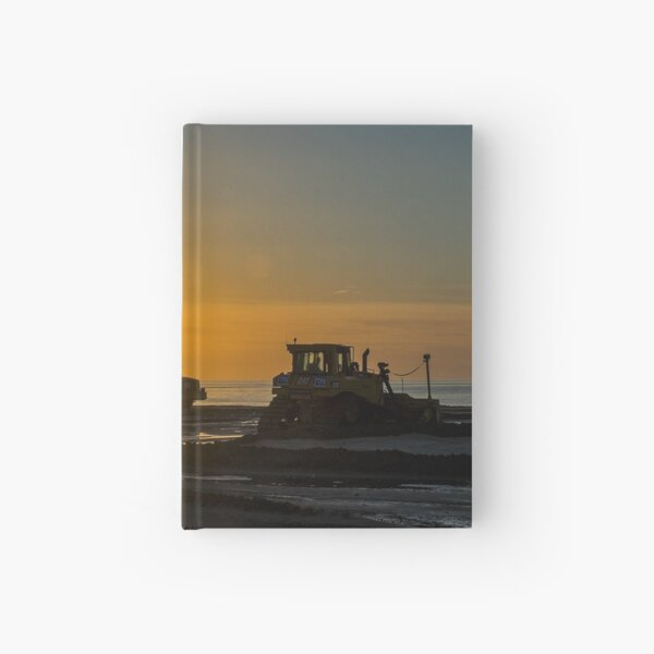 Workers at sunset Hardcover Journal