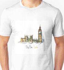 Watercolor Clock tower Big Ben  Unisex T-Shirt