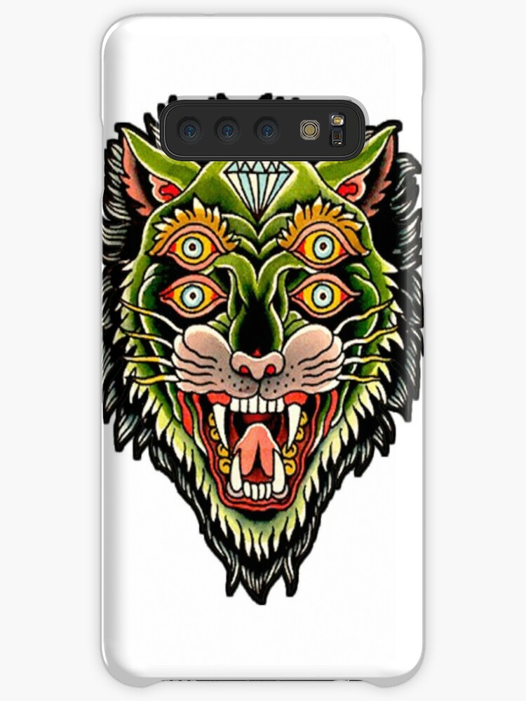 ba8d713e4 Traditional Tiger Monster Diamond Tattoo Design