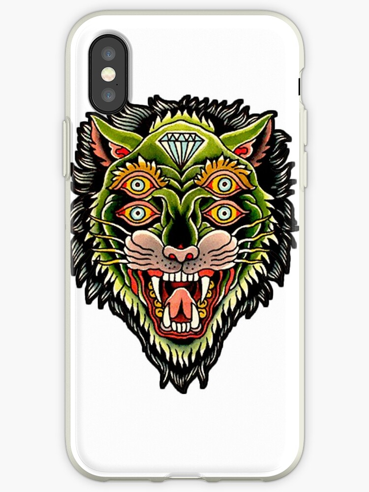 d85be5caf489c Traditional Tiger Monster Diamond Tattoo Design