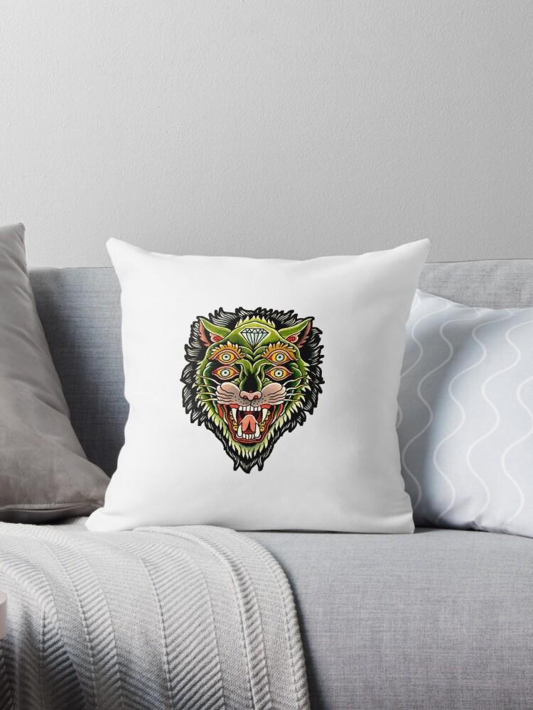 c53a254493f23 Traditional Tiger Monster Diamond Tattoo Design
