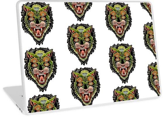 3c056887d Traditional Tiger Monster Diamond Tattoo Design