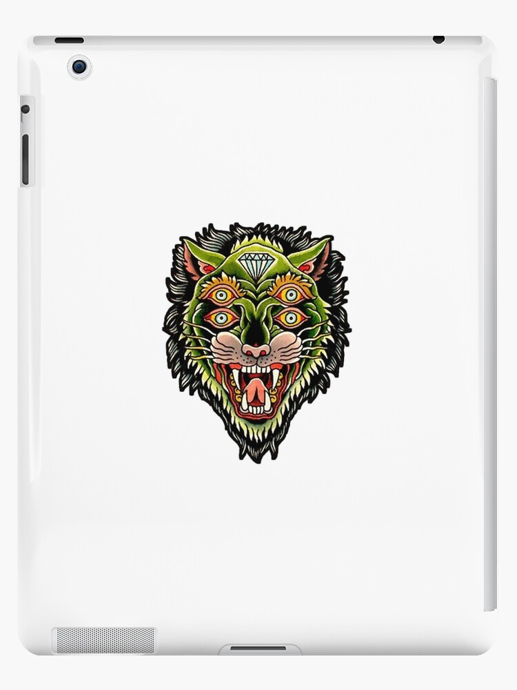 58558b3f2 Traditional Tiger Monster Diamond Tattoo Design